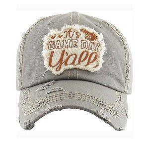 Accessories - It's game day y'all baseball hat two colors